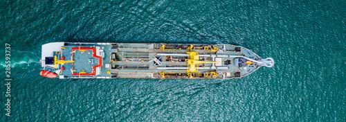 Fotografia Oil Tanker ship in sea Singapore