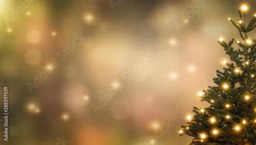 weihnachtsbaum vor abstraktem hintergrund