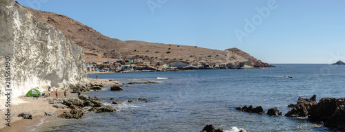 Tibouda Beach In Nador city - Morocco - melilla. Perfect beach view, Summer holiday and vacation design, Mediterranean beach, Beautiful mountains and beautiful sand, Tranquil scenery, relaxing beach.