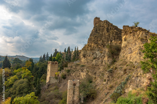 Wallpaper Mural Two old watchtowers in Tbilisi on the hillside