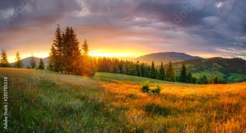 Canvas Print Mountain landscape