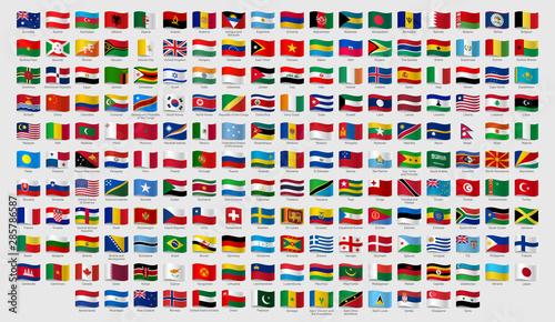 Fotografia, Obraz World national waving flags