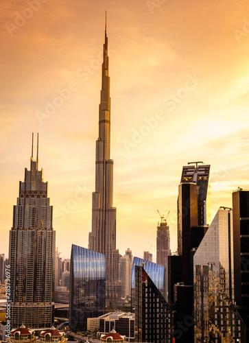 Dubai downtown skyline Poster Mural XXL