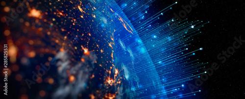 Obraz na płótnie Communication technology for internet business