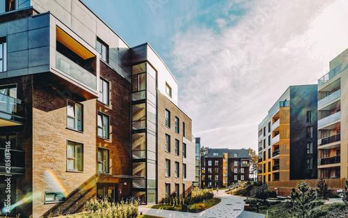 EU Modern european complex of residential apartment buildings Fototapeta