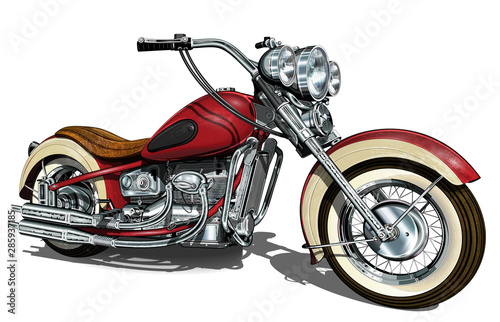 Klasyczny motocykl vintage.