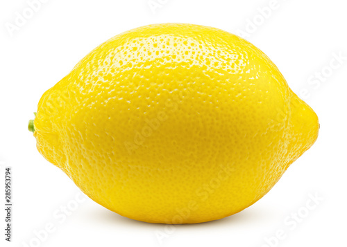 Obraz na plátně Whole lemon isolated on white background, clipping path, full depth of field