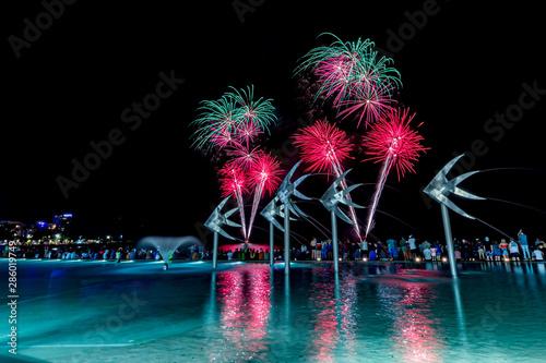 Fototapeta Fireworks at Cairns