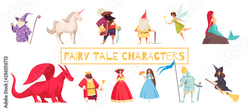 Canvas Print Fairy Tale Characters Set