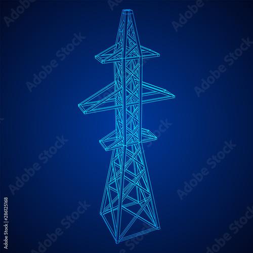 Canvas Print Power transmission tower high voltage pylon