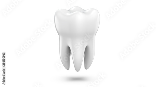 Photo Dental 3d model of premolar tooth as a concept of dental examination teeth, dental health and hygiene
