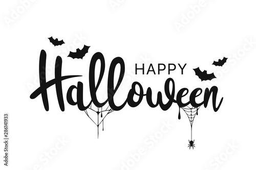 Fotografiet Happy Halloween lettering
