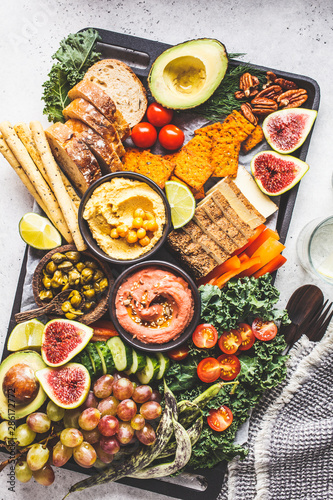 Canvas Print Vegan appetizer platter