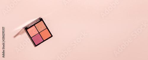 Fotografia, Obraz Eyeshadows for natural daily makeup on pink