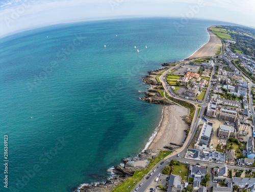 Fotografia, Obraz Aerial view of Greystones beach