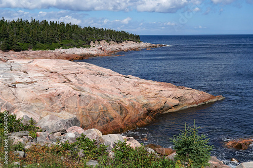 Obraz na płótnie Rocky Atlantic Ocean coastline, Nova Scotia, Cape Breton Island