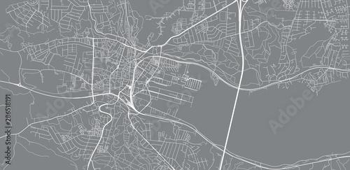 Canvas Print Urban vector city map of Vejle, Denmark