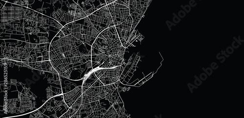 Fotografie, Obraz Urban vector city map of Aarhus, Denmark