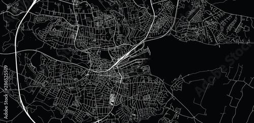 Canvas Print Urban vector city map of Kolding, Denmark