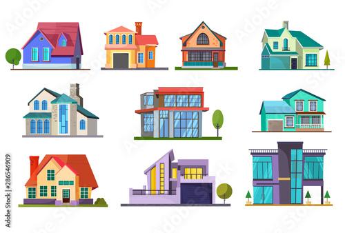 Obraz na płótnie Apartment house set