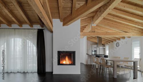 Fotografia inside view of a modern living room i