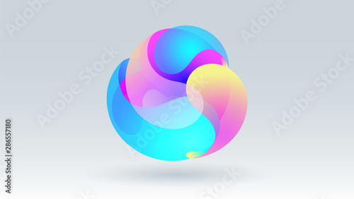 Valokuva Colorful motion fluid circle group abstract