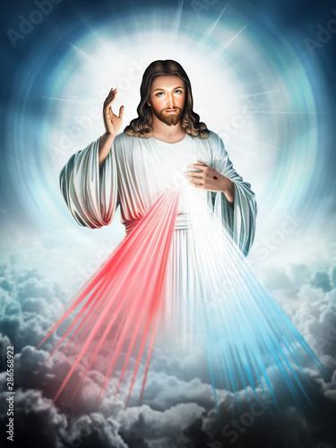 Carta da parati Divine Mercy of Jesus