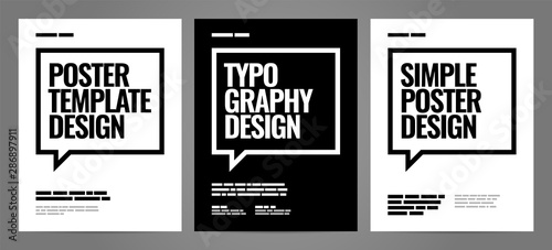 Stampa su Tela Simple template design with typography for poster, flyer or cover