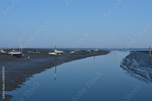 Stampa su Tela plage d'andernos a maree basse