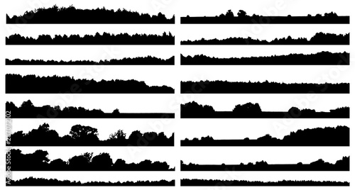 Fotografia Set of forest isolated silhouettes
