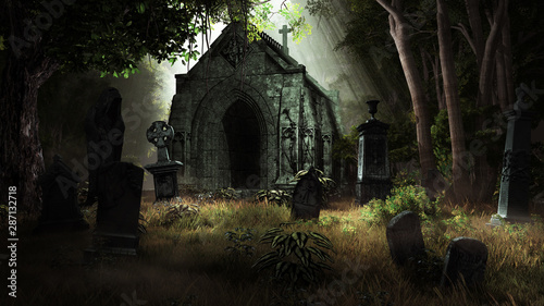 Fotografija Crypt in the woods