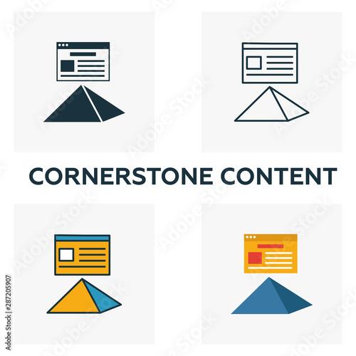 Cornerstone Content icon set Fototapet