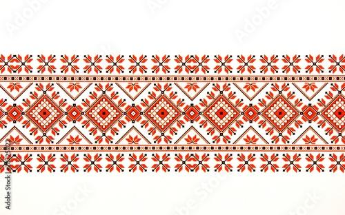 Beautiful traditional Moldavian ornament pattern on a white background Fototapet