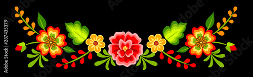 Fotografie, Obraz Mexican floral pattern
