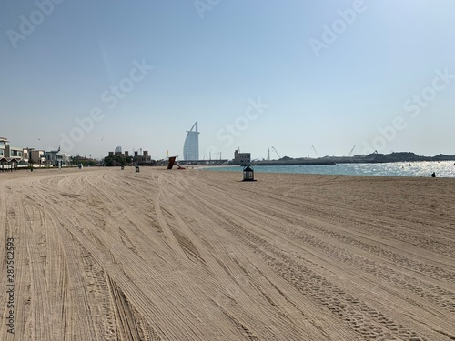 Obraz na płótnie Plage de Dubaï,  Émirats arabes unis