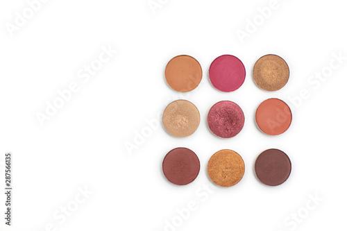 Obraz na płótnie Group of colorful eyeshadow refill