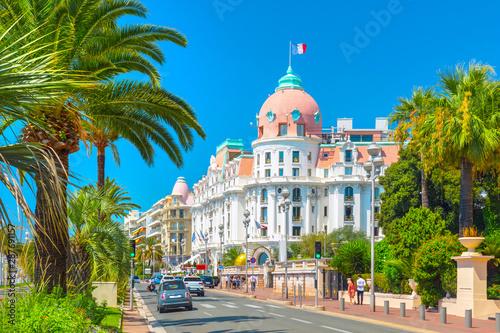 Obraz na plátně Promenade des Anglais in Nice (Nizza), France
