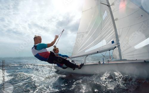 Sailing yacht race. Yachting. Sailing regatta. Fototapeta