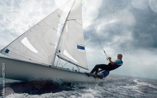 Fototapeta Sailing yacht race. Yachting. Sailing regatta.
