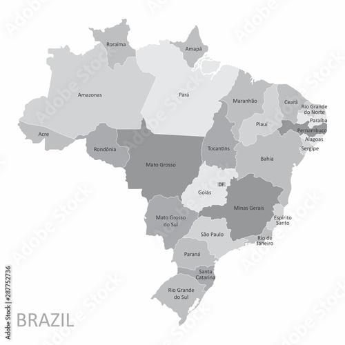 Photo Brazil States map
