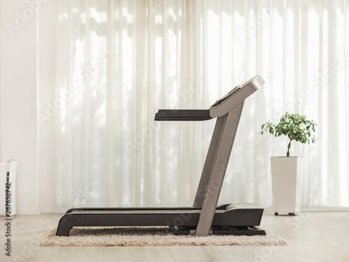 Fotografia Professional modern treadmill at home