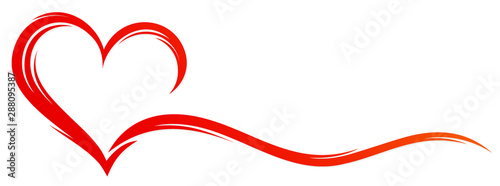 Fotografiet The stylized symbol with red heart.
