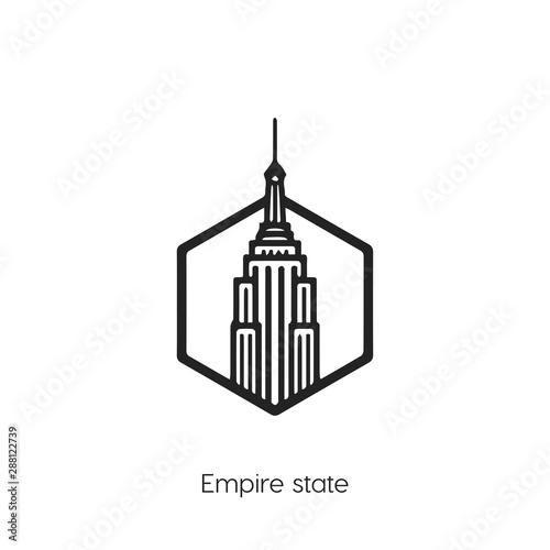Billede på lærred Empire States icon
