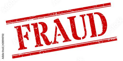 Canvas fraud stamp. fraud square grunge sign. fraud