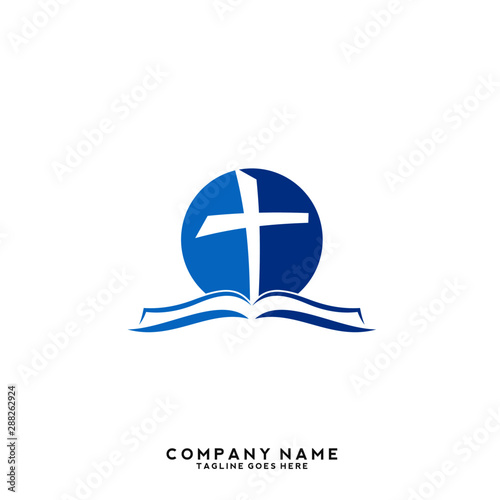 Church vector logo symbol graphic abstract template Fototapet