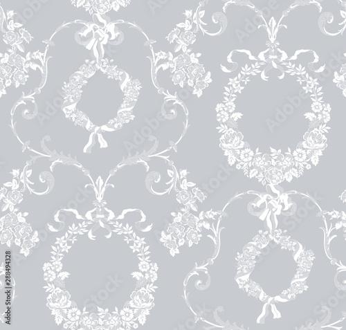 Fototapeta seamless vintage floral lace pattern for your design