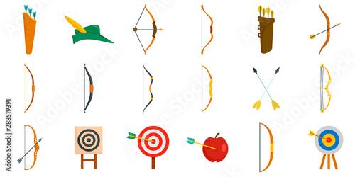 Archery icons set Fototapeta