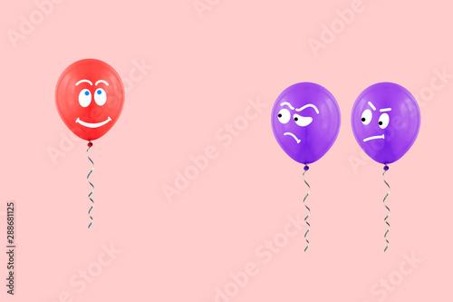 Slika na platnu Balloons creative concept