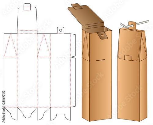 Hanging Box packaging die cut template design. 3d mock-up Fototapete