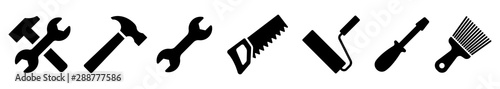 Fotografia Tool icon collection. Instrument icons set. Vector illustration
